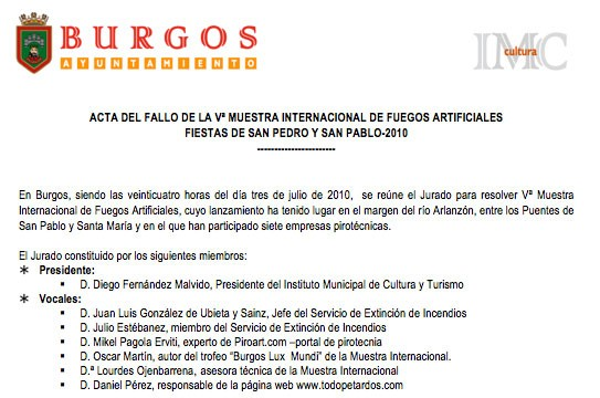 Valenciana gana la V Muestra Internacional de Burgos