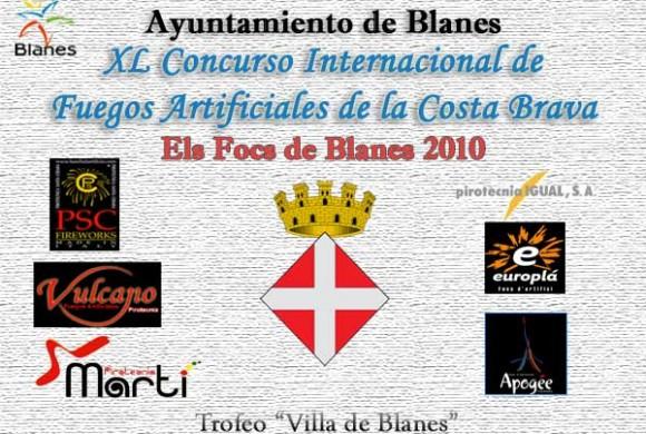 Calendario de Fuegos Blanes 2010